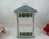 1930s Vintage Mepoco Made in Germany Lusterware Oatmeal Canister with Lid - Charming