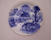 "1940s Vintage  Shelley English Bone China ""Blue Devon"" Teacup Saucer 127354"