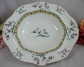 1920s Vintage Johnson Bros Staffordshire English Bone China Pheasant Bird Serving Bowl or Dish - Charming