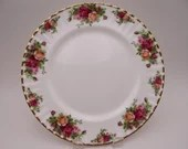 Vintage Royal Albert Old Country Roses Dinner Plate  - 4 Available