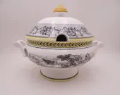 """Vintage Villeroy & Boch """"Audun Ferme"""" Country Scenes Tureen with Lid"""