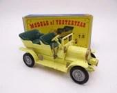 1960s Vintage Matchbox Lesney Y-16 Models of Yesteryear Yellow Spyker Veteran Automobile Diecast Car in Original Box