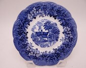 """Vintage Meakin """"Romantic England"""" Blue and White """"Flatford Mill"""" Bread and Butter Plate - 12 Available"""