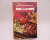 """1968 First Edition """"Favorite Recipes of America - Meats"""" Hardcover Cookbook"""