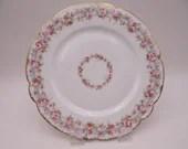 Vintage 1920s Factory Decorated Bawo Dotter Elite Limoges France Pink Rose Spray Plate