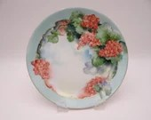 Vintage Hutschenreuther Selb Bavaria Hand Painted Grapes or Berries Plate Artist Signed