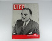 1944 Life Magazine Wartime Issue, September 18 ,  Dewey - March Through France