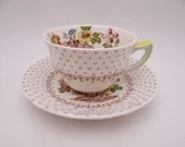 """Vintage Royal Doulton English Bone China """"Grantham"""" Teacup and Saucer Set Lovely English Tea Cup - 2 available"""