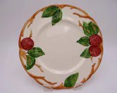 Vintage 1960s  Francsican Ware Apple Salad Plate - made in USA