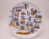 VIntage Nord de La France Souvenir Plate Northern France Plate