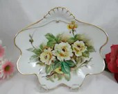 Spectacular Hand Painted Yellow Rose Serving Bowl - Stunning
