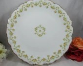 Antique Large Elite Limoges Round Yellow Rose Serving Plate Spectacular