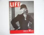Vintage 1939 Life Magazine WWII Wartime Issue October 23 War & Fashions - Poland - Hitler - British Navy