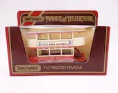 """Never Out of the Box Lesney Matchbox Y-15 Models of Yesteryear Preston Tramcar """"Golden Shread""""  in Original Box-  Diecast Car"""