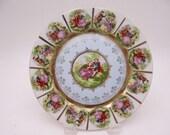 Vintage Courting Couple Fragonard Love Story Cabinet Decorator Dinner Plate