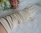 Vintage Light Tan Above the Wrist Gloves are a Very Pretty Women's Accessory