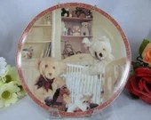 LIttle Bears Collection Teddy Bear Collector Plate Childrens decoration