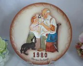 """1980 Norman Rockwell Collectors Club 3D Relief Collectors Plate """"The Toymaker """""""
