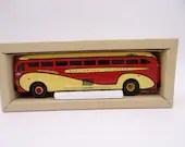 "MIB Vintage Corgi Classics 98464 Yellow Coach 743 ""Burlington Tramways""  Die Cast Toy Car Bus in Original Box"