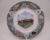 1950s Vintage Marineland of the Pacific Colorful Souvenir Plate