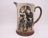 "c1920s Beswick Pottery England Porcelain Large Pitcher - ""Hamlet"" Prince of Denmark Jug"