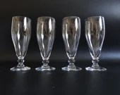 4 Vintage Liquer Sherry or Claret Wine Glasses or Dessert Tasting Glasses with Ball Base for your Elegant Dining Table or Barware