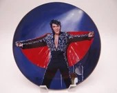 """Vintage Elvis Presley Delphi Performance Collection Series """"In the Spotlight, Hawaii 1972"""" Limited Edition Collector Plate"""
