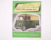 Vintage 1950s Original International Deluxe Delivery Truck Models KB-1-M and KB-3-M Dealer Brochure