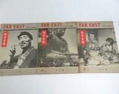 Vintage 1947 Far East Photo Review Magazine- Set of Three