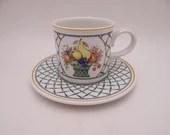 "Vintage Villeroy & Boch Germany ""Basket"" Teacup and Saucer Set - 4 Available German Tea Cup"