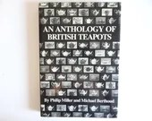 """Vintage Hardcover Reference Book """"Anthology of British Teapots"""" By Philip Miller and Michael Berthoud"""