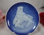 1974 Bing and Grondahl B&G Mothers Day Mors Tag Bear and Pups Mother's Day  Plate