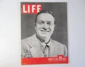 1944 Life Magazine Wartime Issue, January 10, Bob Hope No.1 Comedian - Invasion
