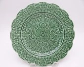 """Vintage Tiffany & Co Green Majolica """" Salad or Dessert Plate - 9 Available"""
