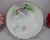 Set of 4 1900s Vintage Hand Painted Nippon Bread and Butter Plates