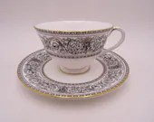 "Vintage Royal Doulton Mid Century English Bone China ""Baronet"" Teacup and Saucer Set - 5 Available"