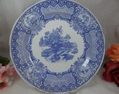 """Vintage Spode Blue Room Collection Blue and White Dinner Plate """"Seasons"""""""