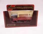 "MIB Vintage Lesney Matchbox Y-8 Models of Yesteryear 1917 Yorkshire Steam Wagon ""Johnnie Walker Whiskey""  Diecast Car in Original Box"