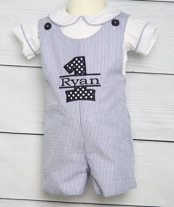 Baby Boy First Birthday Outfit First Birthday Outfit Boy 1st Etsy
