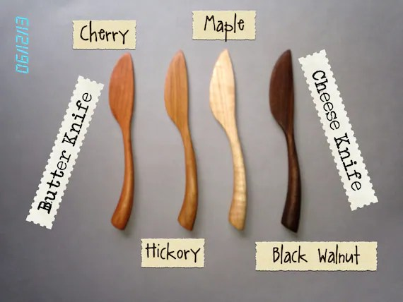 Butter Knife, Cheese Knife, Spreader MAPLE