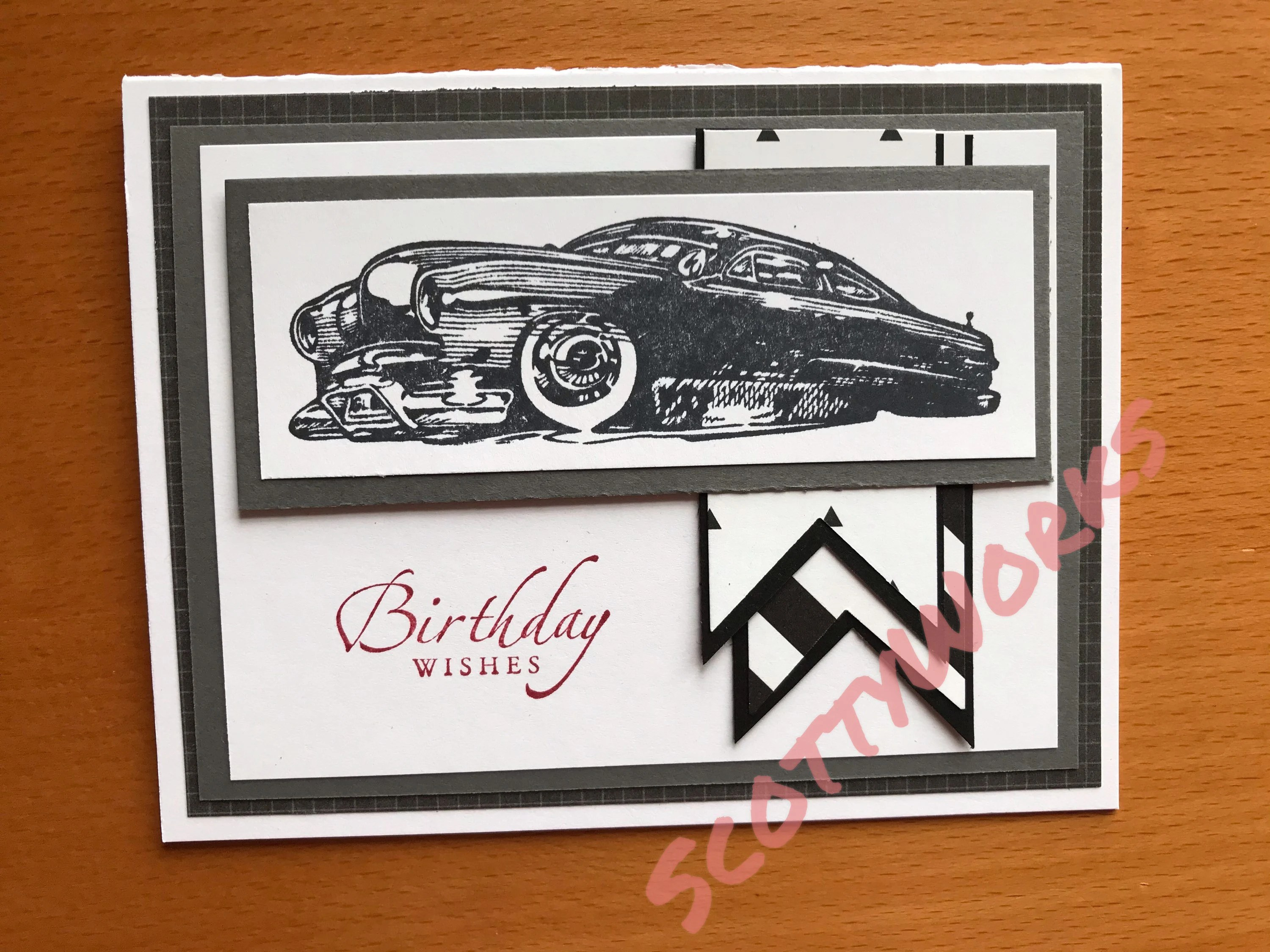 Birthday Wishes Card For Car Guy Birthday Card Card With Old Etsy