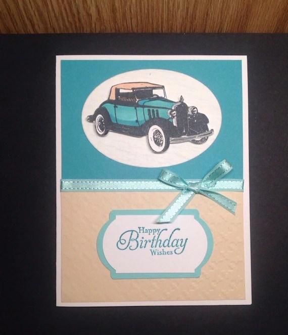 Happy Birthday Wishes Card For Car Guy Birthday Card Card Etsy