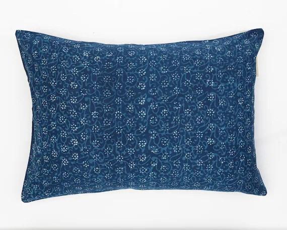 daisey indigpillow sham blue pillow shams