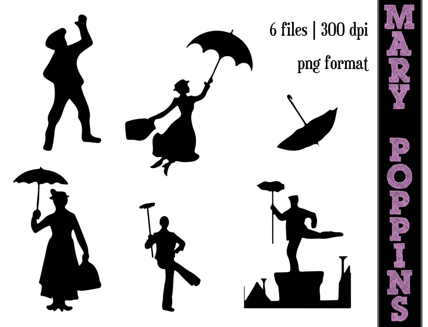 Mary Poppins Silhouettes A Spoonful Of Sugar Silhouette