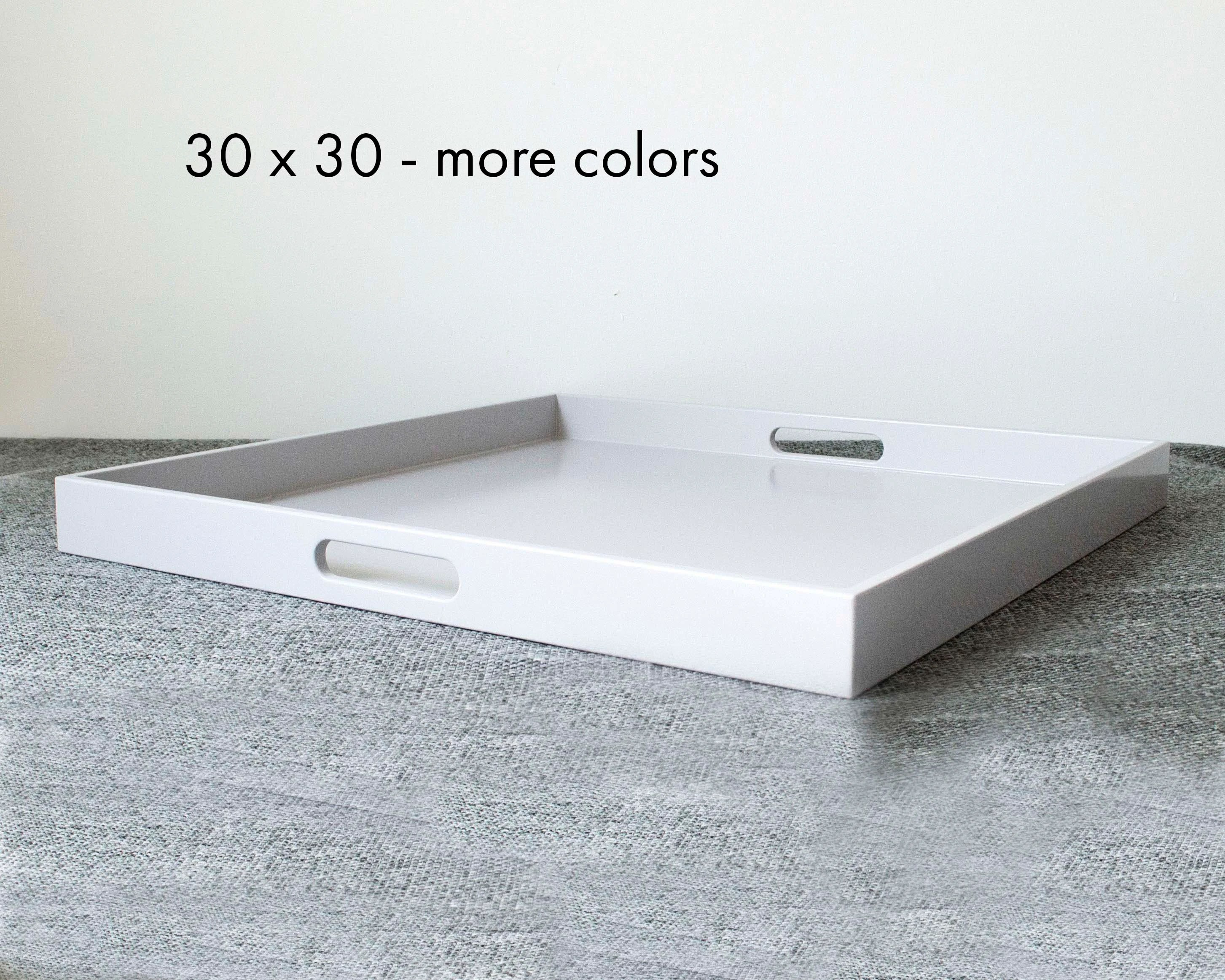 30 x 30 square oversized ottoman tray modern extra large coffee table tray with handles