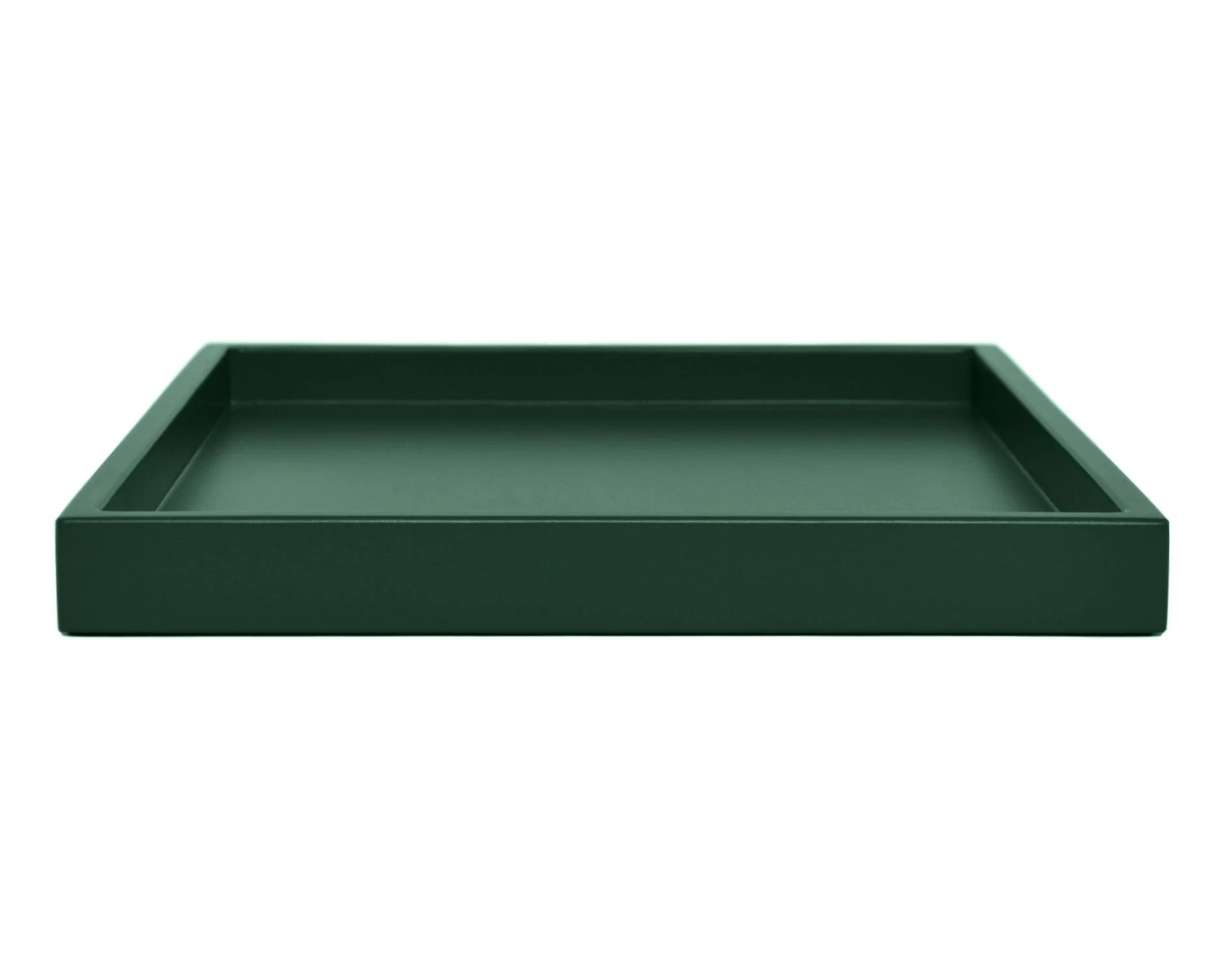 dark green ottoman tray for coffee table modern small to extra large low profile wood lacquer tray