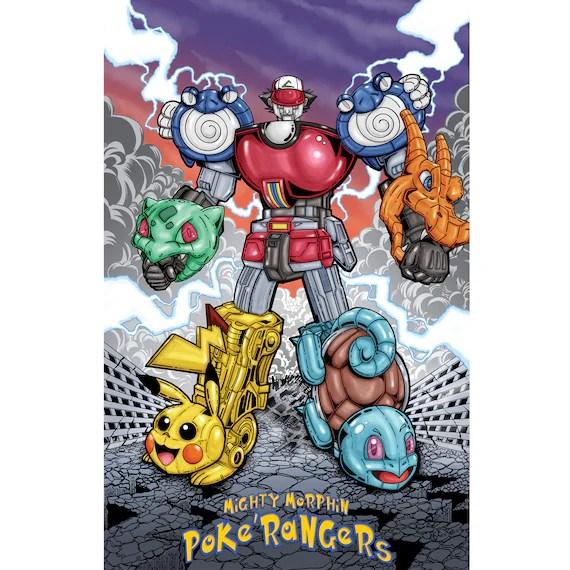 mighty morphin poke rangers poster