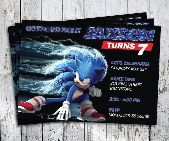 Sonic Birthday Invitation Sonic Party Sonic The Hedgehog Etsy