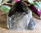 Black Smoky Quartz Tower, Raw Smoky Quartz, Crystal Tower ~1860