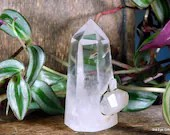 Quartz Crystal Point, Quartz Point Clear Quartz Crystal Tower ~1993